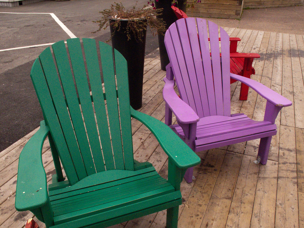 Welcoming chairs at the dock area in Halifax.