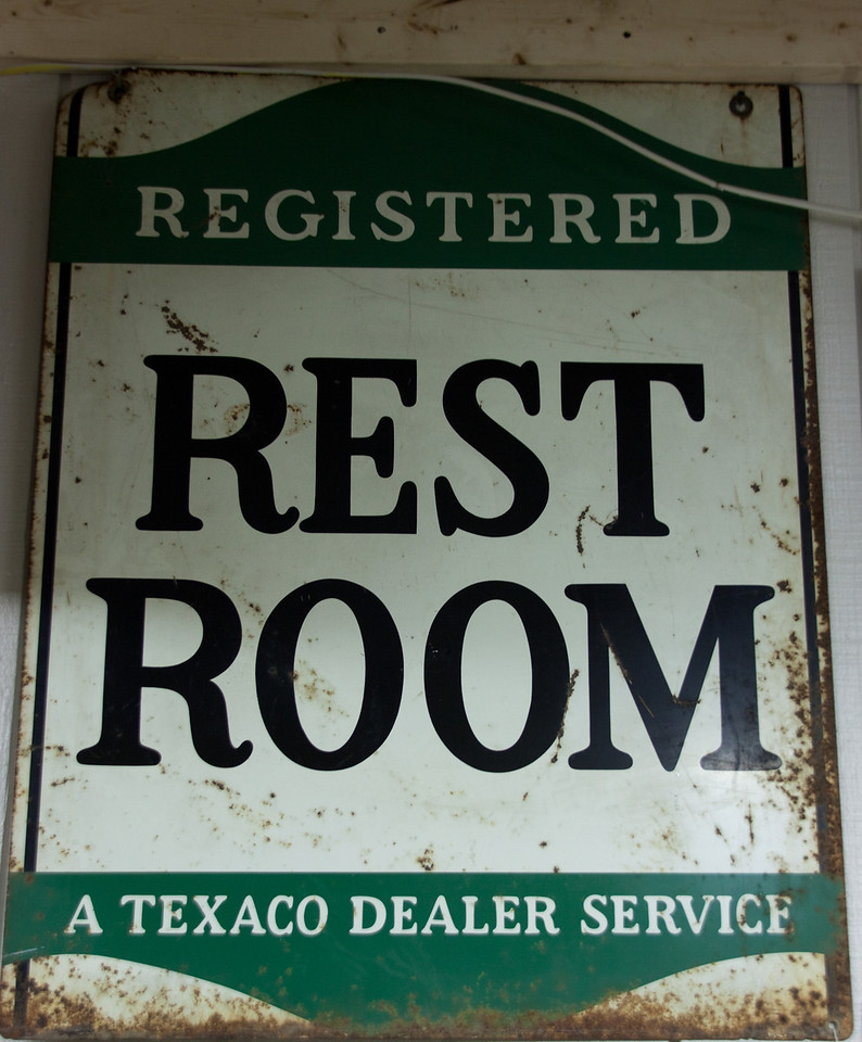 "A ""Registered Rest Room"".  No registered restrooms today!"