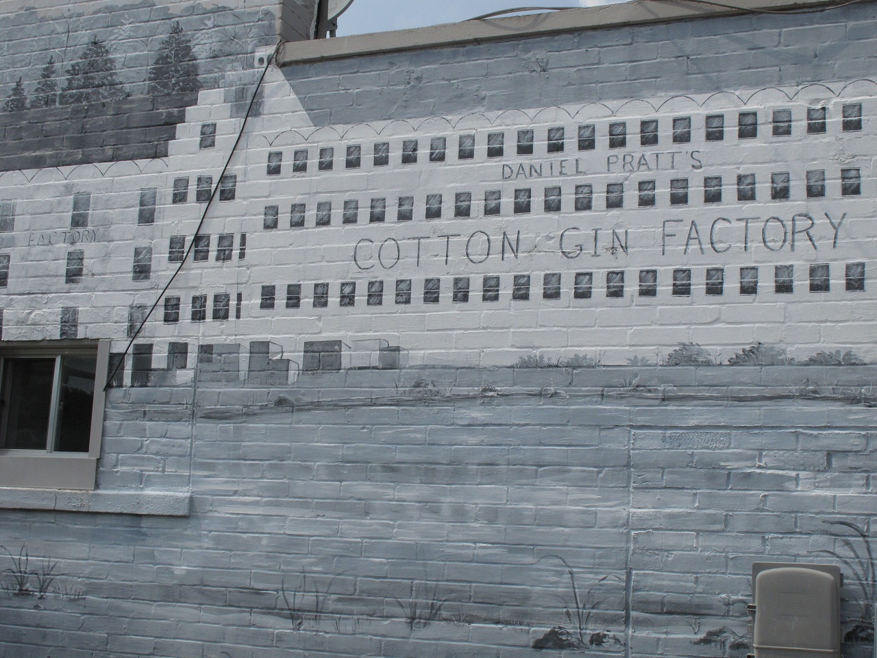 The Cotton Gin mural.