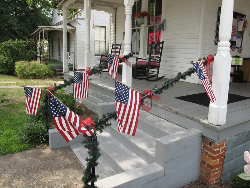 Local storefront patriotism.