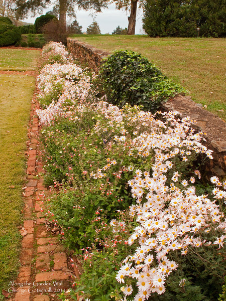 Garden Wall at James Monroe's Virginia home Ashlawn.