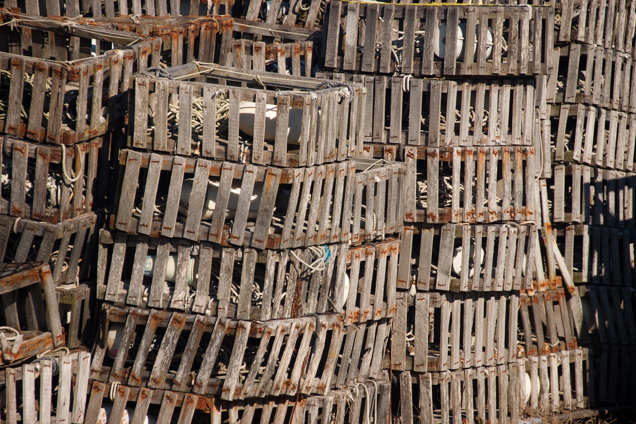 Crab pots in Wachapreague