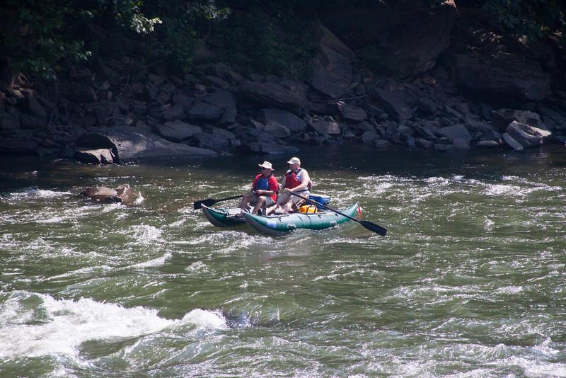 Float fisherman near Thurmond West Virginia