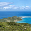 In this picture you can SEE ANEGADA, the white line across the sea, just below the sky! Can you see it?