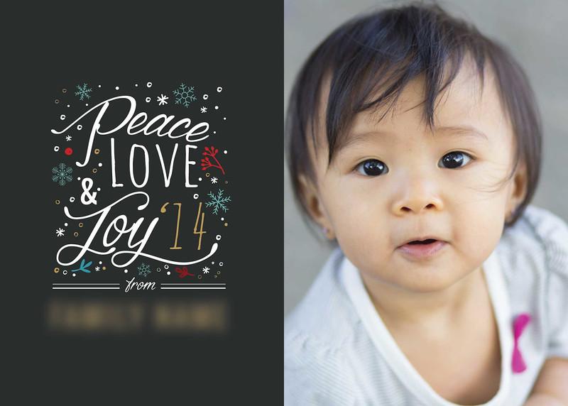 Peace Love Joy - Alternate View - Front design