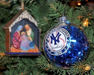 New York Yankees Christmas ornament.