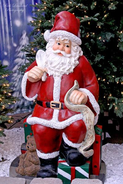 Ho ho ho. Santa at Hicks Nursery.