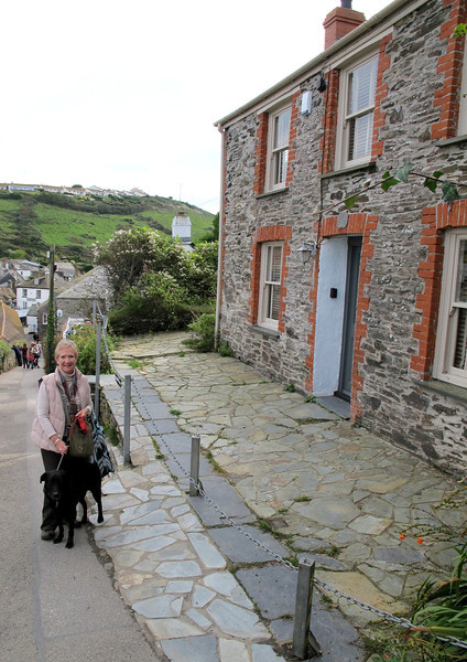 The view down from Doc Martin's house.