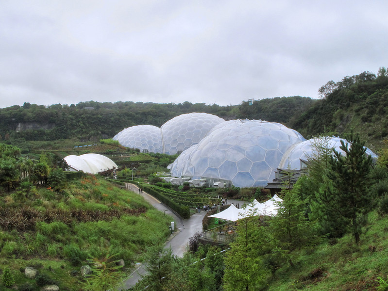 The Eden Project occupies what was once a clay quarry