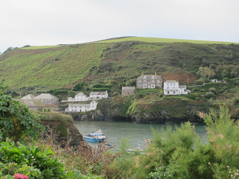 Port Isaac (Portwenn in the Doc Martin TV series) - The small grey house in the centre is Doc Martin's house.