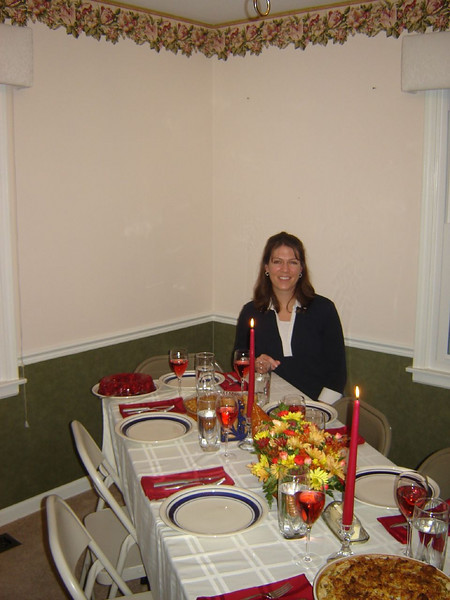 Thanksgiving <br /> My Daughters first Thanksgiving Table