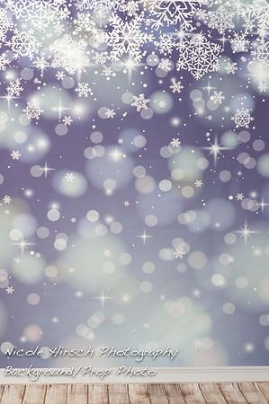 3x5 Snowflake Background