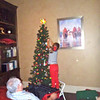 Vivian decorates the tree 2012