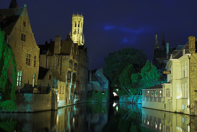 Evening reflections in Bruges (Belgium)