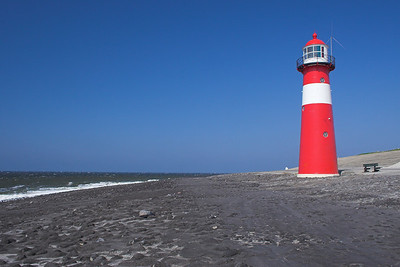 Lighthouse and the North Sea near Westkapelle (Holland)