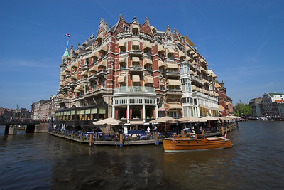 Riverboat along the canals of Amsterdam