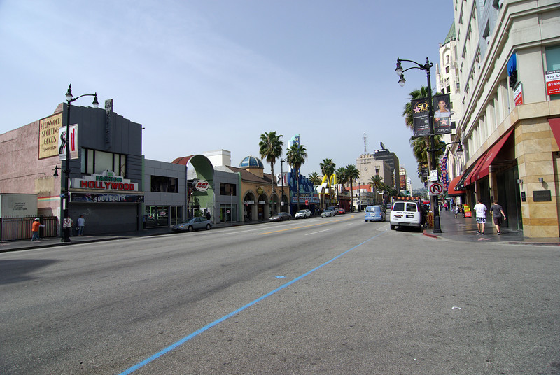 Looking down Hollywood Blvd (1)