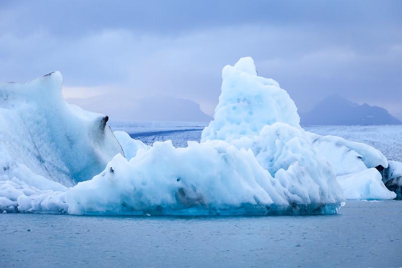 Jökulsárlón - famous glacial lagoon, Iceland, 2013