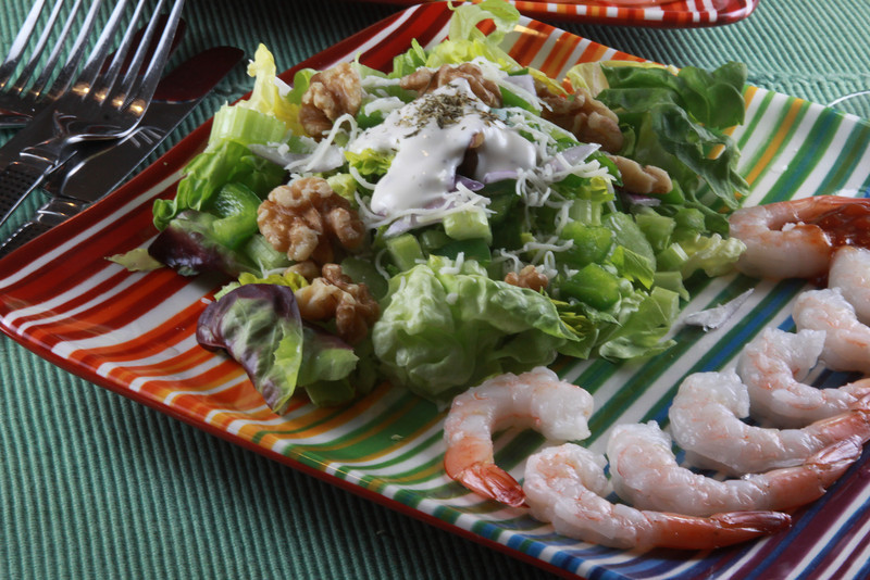 #1 MapleW alnut Salad with Shrimp