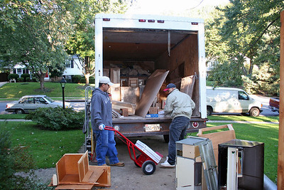 Day one.  Cabinets and materials arrive.