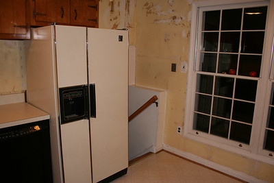 Old kitchen - Refer goes to the garage.