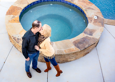Kissing by the Pool-