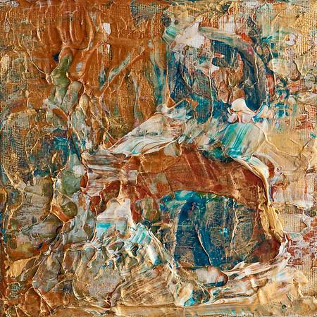 """Untitled"" acrylic & mixed media on canvas 5"" x 5"""