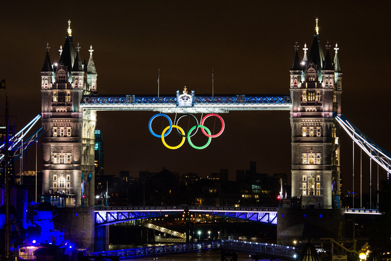 Tower Bridge During the 2012 Olympic Games