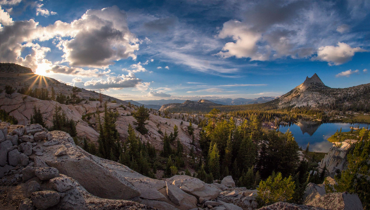 Golden Hour At Upper Cathedral Lake