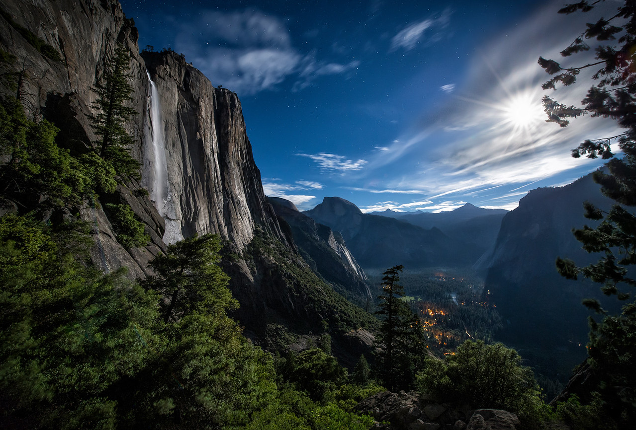 Super Moon Over Yosemite Falls