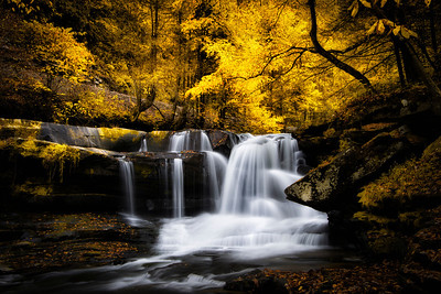 Lower Dunloup Creek Falls In October