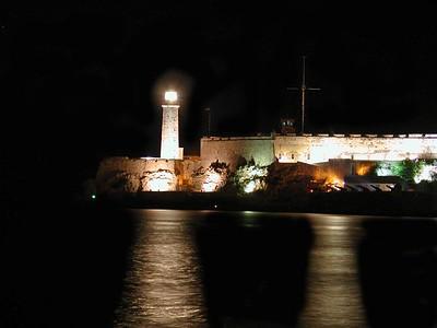The Havana LighthHouse at Night