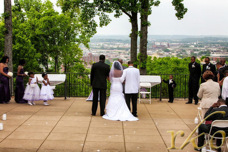 Wedding, at, Vulcan, Park, overlooking, Birmingham