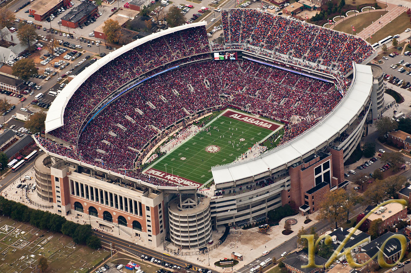 Aerial of Bryant Denny Stadium - Iron Bowl