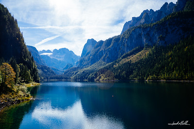 Lake Gosau (Gosausee) surrounded by the Dachstein Mountains