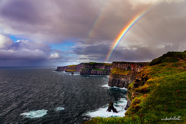 Rainbow and light on the Cliffs of Moher