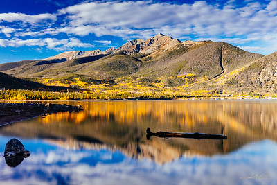 Peak One and calm waters on Lake Dillon
