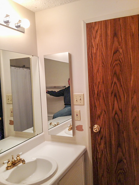 Before Photo: Hall bath.