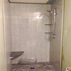 2018-02-22 (Day 8): Master bath.  Shower with seat & faucet installed.