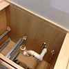 2018-03-12 Master Bath.  Removing the vanity to access the tub leak.