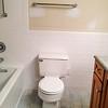 2018-03-09 Hall Bath.  Towel rod centered over toilet.