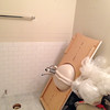 2018-02-28 (Day 12): Hall Bath. Subway tile wainscot.
