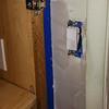 2018-03-06 Master Bath.  Light switch drywall fix.