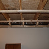 Heat pump pipes and cable tv in the workshop.