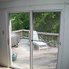 Sliding glass door before photo.