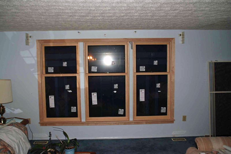 Living room windows installed.