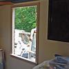 Kitchen window frame installed.