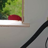 Window sill installed in master bedroom.