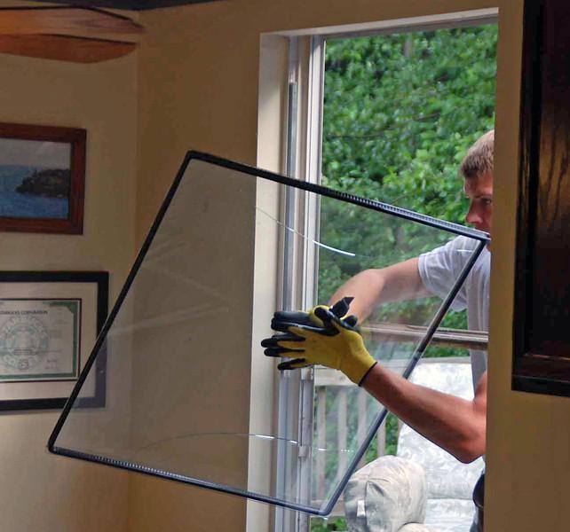 Demolition of kitchen window.