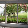 Living room windows framed.